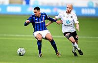 Fotball , 12. april 2015 ,   Eliteserien , Tippeligaen <br /> Odd - Stabæk<br /> Yassine El Ghanassy , Stabæk<br /> Jone Samuelsen , Odd<br /> <br /> Foto: Digitalsport