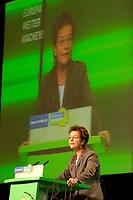 28 NOV 2003, DRESDEN/GERMANY:<br /> Angelika Beer, B90/Gruene Bundesvorsitzende, haelt eine Rede, 22. Ordentliche Bundesdelegiertenkonferenz Buendnis 90 / Die Gruenen, Messe Dresden<br /> IMAGE: 20031128-01-025<br /> KEYWORDS: Bündnis 90 / Die Grünen, BDK, speech<br /> Parteitag, party congress, Bundesparteitag