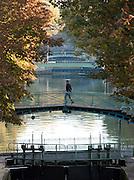 Bridge over the Canal Saint Martin, Paris, France