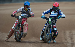 May 12, 2018 - Warsaw, Poland - Przemyslaw Pawlicki (POL), Matej Zagar (SLO) during 1st round of Speedway World Championships Grand Prix Poland in Warsaw, Poland, on 12 May 2018. (Credit Image: © Foto Olimpik/NurPhoto via ZUMA Press)