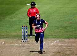 Katherine Brunt of England Women looks frustrated while bowling at South Africa Women - Mandatory by-line: Robbie Stephenson/JMP - 05/07/2017 - CRICKET - County Ground - Bristol, United Kingdom - England Women v South Africa Women - ICC Women's World Cup Group Stage