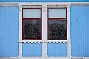 Traditional wooden buildings along Storgata in the quaint area of Tromso, in the Arctic Circle in Northern Norway