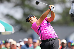 April 8, 2018 - Augusta, GA, USA - Patrick Reed tees off on one during the final round of the Masters at Augusta National Golf Club on Sunday, April 8, 2018, in Augusta, Ga. (Credit Image: © Curtis Compton/TNS via ZUMA Wire)