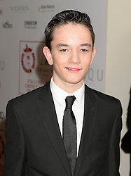 Lewis MacDougall arrives at the London Critics' Circle Film Awards at the May Fair Hotel in London.