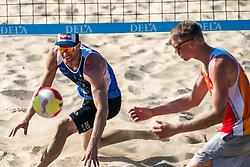 25-08-2019 NED: DELA NK Beach Volleyball, Scheveningen<br /> Last day NK Beachvolleyball / Alexander Brouwer #1, Stefan Boermans #2
