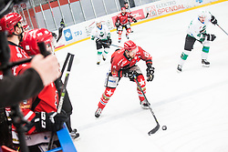 Miha BRUS during  First league between HDD Acroni Jesenice vs HK SZ Olimpia, on April 23, 2019 in Jesenice, Slovenia. Photo by Peter Podobnik / Sportida