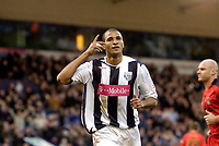 Photo: Leigh Quinnell.<br /> West Bromwich Albion v Coventry City. Coca Cola Championship. 16/12/2006. West Broms Diomansy Kamara celebrates scoring his penalty.