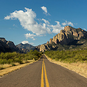 The road from Portal, AZ into the the mouth of Cave Creek Canyon on the east side of the Chiricahua Mountains.<br /> <br /> Photography by Jill Richards