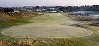 ZANDVOORT - De golfbaan van de Kennemer Golfclub, waar ook in 2008 het Dutch Open voor mannen zal worden gehouden. Op de foto: De baan gezien vanaf het clubhuis. Copyright Koen Suyk