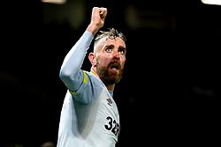 Richard Keogh of Derby County celebrates Harry Wilson scoring a goal 1-1 - Mandatory by-line: Robbie Stephenson/JMP - 25/09/2018 - FOOTBALL - Old Trafford - Manchester, England - Manchester United v Derby County - Carabao Cup
