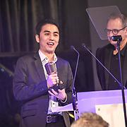 Breakthrough engineer of the year winner Caesar Edmunds attend The Music Producers Guild Awards at Grosvenor House, Park Lane, on 27th February 2020, London, UK.
