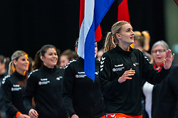 Kelly Dulfer of Netherlands before the Women's EHF Euro 2020 match between Netherlands and Germany at Sydbank Arena on december 14, 2020 in Kolding, Denmark (Photo by RHF Agency/Ronald Hoogendoorn)
