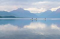 Paddle Boarding on Lake McDonald Glacier National Park Montana