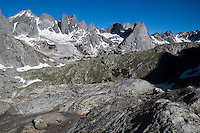 Jackass Pass and Cirque of the Towers, Wind River Mountains, Wyoming.