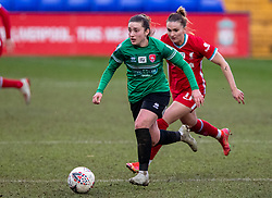 BIRKENHEAD, ENGLAND - Sunday, March 14, 2021: Coventry United's Fran Orthodoxou during the FA Women's Championship game between Liverpool FC Women and Coventry United Ladies FC at Prenton Park. Liverpool won 5-0. (Pic by David Rawcliffe/Propaganda)