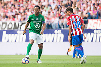 Atletico de Madrid Legends's Oliver Torres and World Legend's Ronaldinho during friendly match to farewell  to Vicente Calderon Stadium in Madrid, May 28, 2017. Spain.<br /> (ALTERPHOTOS/BorjaB.Hojas)
