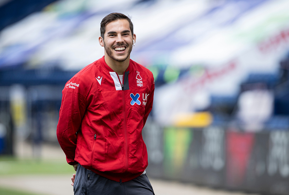 Nottingham Forest's Yuri Ribeiro is all smiles before the match<br /> <br /> Photographer Andrew Kearns/CameraSport<br /> <br /> The EFL Sky Bet Championship - Preston North End v Nottingham Forest - Saturday 11th July 2020 - Deepdale Stadium - Preston <br /> <br /> World Copyright © 2020 CameraSport. All rights reserved. 43 Linden Ave. Countesthorpe. Leicester. England. LE8 5PG - Tel: +44 (0) 116 277 4147 - admin@camerasport.com - www.camerasport.com