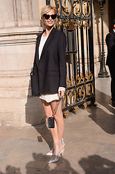 Poppy Delevingne attending the Stella McCartney Fashion Show during Paris Fashion Week Womenswear Spring - Summer 2019 held in Paris, France on October 1, 2018. Photo by Julien Reynaud/APS-Medias/ABACAPRESS.COM