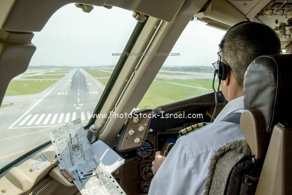 The approach and Landing at Suvarnabhumi international airport Bangkok, Thailand in a Boeing 767