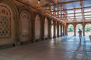 Bethesda Terrace Arcade in Central Park, designed by Jacob Wrey Mould, with Minton ceiling tiles.