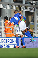 Birmingham City's Jesse Lingard (No.9) celebrates scoring his 3rd goal  during the Skybet championship match, Birmingham city v Sheffield Wednesday at St.Andrews in Birmingham, England on Sat 21st Sept 2013. pic by Jeff Thomas/Andrew Orchard sports photography