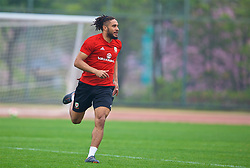 NANNING, CHINA - Sunday, March 25, 2018: Wales' captain Ashley Williams during a training session at the Guangxi Sports Centre ahead of the 2018 Gree China Cup International Football Championship final match against Uruguay. (Pic by David Rawcliffe/Propaganda)