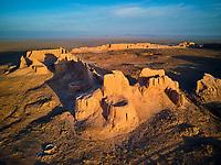 Ouzbekistan, region de Karakalpakstan, les citadelles du desert, Ayaz Qala // Uzbekistan, Karakalpakstan province, desert citadel, Ayaz Kala