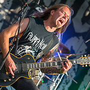 BALTIMORE United States - May 22, 2015: Rune Eriksen of Aura Noir performs at Maryland Deathfest