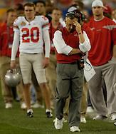 MORNING JOURNAL/DAVID RICHARD.Ohio State head coach Jim Tressel during the BCS National Championship game vs. Florida.