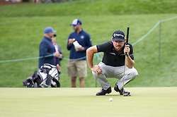 May 5, 2019 - Charlotte, North Carolina, United States of America - Brian Harman reads a put on the second hole during the final round of the 2019 Wells Fargo Championship at Quail Hollow Club on May 05, 2019 in Charlotte, North Carolina. (Credit Image: © Spencer Lee/ZUMA Wire)
