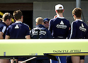 2003 - Rowing - 149th Varsity Boat Race - Tideway Week<br /> 31/03/03 Championship Course, River Thames, London.<br /> Oxford's blue boat  assistant coach, Derek CLARKE [Mandatory Credit; Peter Spurrier/Intersport Images]