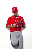 Washington Nationals Gio Gonzalez poses for portraits on location at Marlins Park  in Miami,Florida July 16,2012.<br /> Photo/Tom DiPace