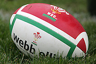 The Wales rugby team press conference and team training on 18/11/2008 ahead of their autumn international against New Zealand.  a rugby ball. pic by Andrew Orchard ©  Andrew Orchard sports photography