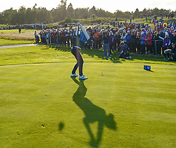 Solheim Cup 2019 at Centenary Course at Gleneagles in Scotland, UK. Anne Van Dam drives on 16th Hole during Friday afternoon fourballs.