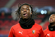 Eduardo Camavinga of Stade Rennais warms up before the UEFA Champions League, Group E football match between Stade Rennais and Sevilla FC (FC Seville) on December 8, 2020 at Roazhon Park in Rennes, France - Photo Jean Catuffe / ProSportsImages / DPPI