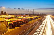 Europe, Germany, North Rhine-Westphalia, Ruhr area, Bottrop, motorway station at the Autobahn A2 in direction to Hannover, truck stop...Europa, Deutschland, Nordrhein-Westfalen, Ruhrgebiet, Bottrop, Rastplatz Bottrop an der Autobahn A2 in Fahrtrichtung Hannover, LKW Rastplatz.