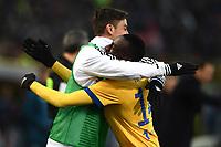 esultanza gol Blaise Matuidi goal celebration<br /> Bologna 17-12-2017 Stadio Renato Dall'Ara Football Calcio Serie A 2017/2018 Bologna - Juventus Foto Image Sport / Insidefoto