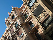 Traditional Spanish architecture of a residential building in San Sebastian, Spain