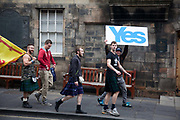 Scottish referendum in Edinburgh. All through out the day a huge number of voters turned out asll over Scotland to vote in the independence referendum. The polls were open from 7am till 10pm and the count went on through-out the night with the final results announced early in the following morning.