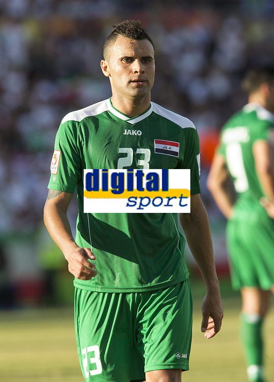 Fotball<br /> Asia Cup / Asiamesterskapet<br /> 23.01.2015<br /> Iran v Irak<br /> Kvartfinale<br /> Foto: imago/Digitalsport<br /> NORWAY ONLY<br /> <br /> Waleed Salim (23) of Iraq in the FIFA Asian Football Confederation 2015 Asian Cup quarter-final game played in Canberra Stadium, Canberra, Australia
