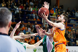 Jan Mocnik of KK Helios Suns during basketball match between KK Helios Suns and KK Krka in semi-final of Nova KBM Champions League 2015/16, on May 23, 2016 in Hala Kominalnega Centra, Domzale, Slovenia. Photo by Urban Urbanc / Sportida