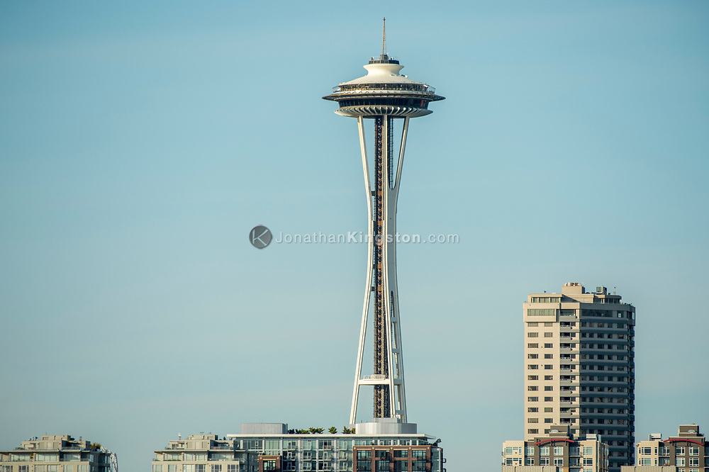 Skyline of Seattle, Washington with the Space Needle visible.