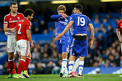 Diego Costa of Chelsea shorts fall down following a tackle from Fabio of Middlesbrough - Mandatory by-line: Jason Brown/JMP - 08/05/17 - FOOTBALL - Stamford Bridge - London, England - Chelsea v Middlesbrough - Premier League