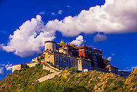 A massive cloud over the Potala Palace, Lhasa, Tibet (Xizang, China).