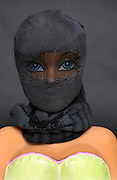 fashionable doll with face covering