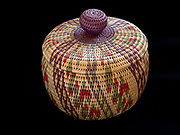 Athabascan split willow root basket from Alaska in Fred and Randi Hirschmann's collection.