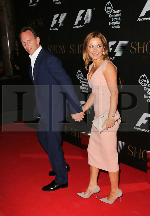 Geri Halliwell; Christian Horner; Red Bull, F1 Party in aid of Great Ormond Street Hospital Children's Charity, Victoria and Albert Museum, London UK, 02 July 2014, Photo by Richard Goldschmidt © Licensed to London News Pictures. 03/07/2014