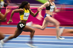 March 2, 2018 - Birmingham, Gangwon, United Kingdom - Gayon Evans of Jamaica at 60m, heat 1, at World indoor Athletics Championship 2018, Birmingham, Englandon March 2, 2018. (Credit Image: © Ulrik Pedersen/NurPhoto via ZUMA Press)