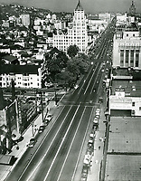 1938 Looking east on Hollywood Blvd. from Orange Ave.