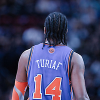 06 October 2010: New York Knicks center Ronny Turiaf #14 is seen during the Minnesota Timberwolves 106-100 victory over the New York Knicks, during 2010 NBA Europe Live, at the POPB Arena in Paris, France.